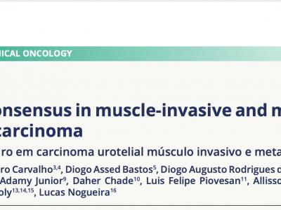 NeoUro presente na publicação do Consenso Brasileiro de Câncer de Bexiga
